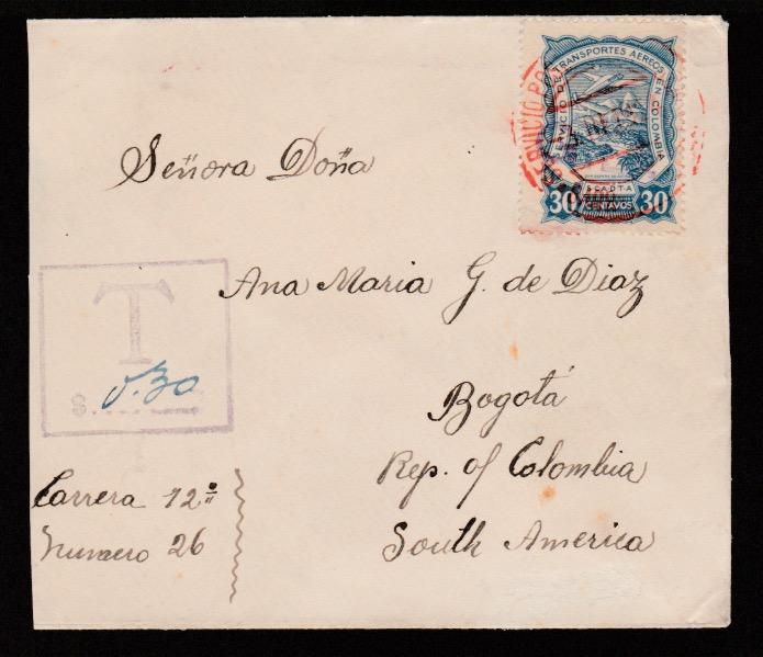 Air Mails - Scadta / G.B. 1924