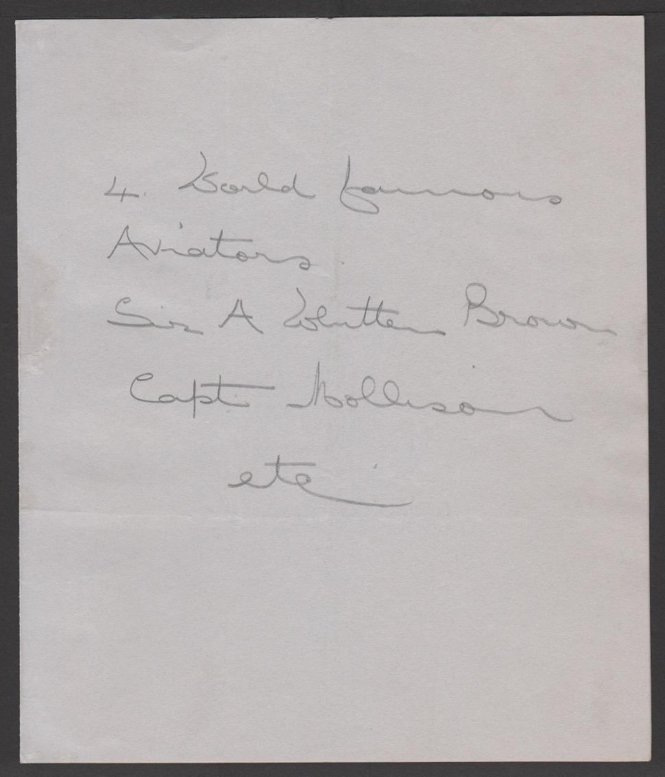 Air Mails / Autographs 1937