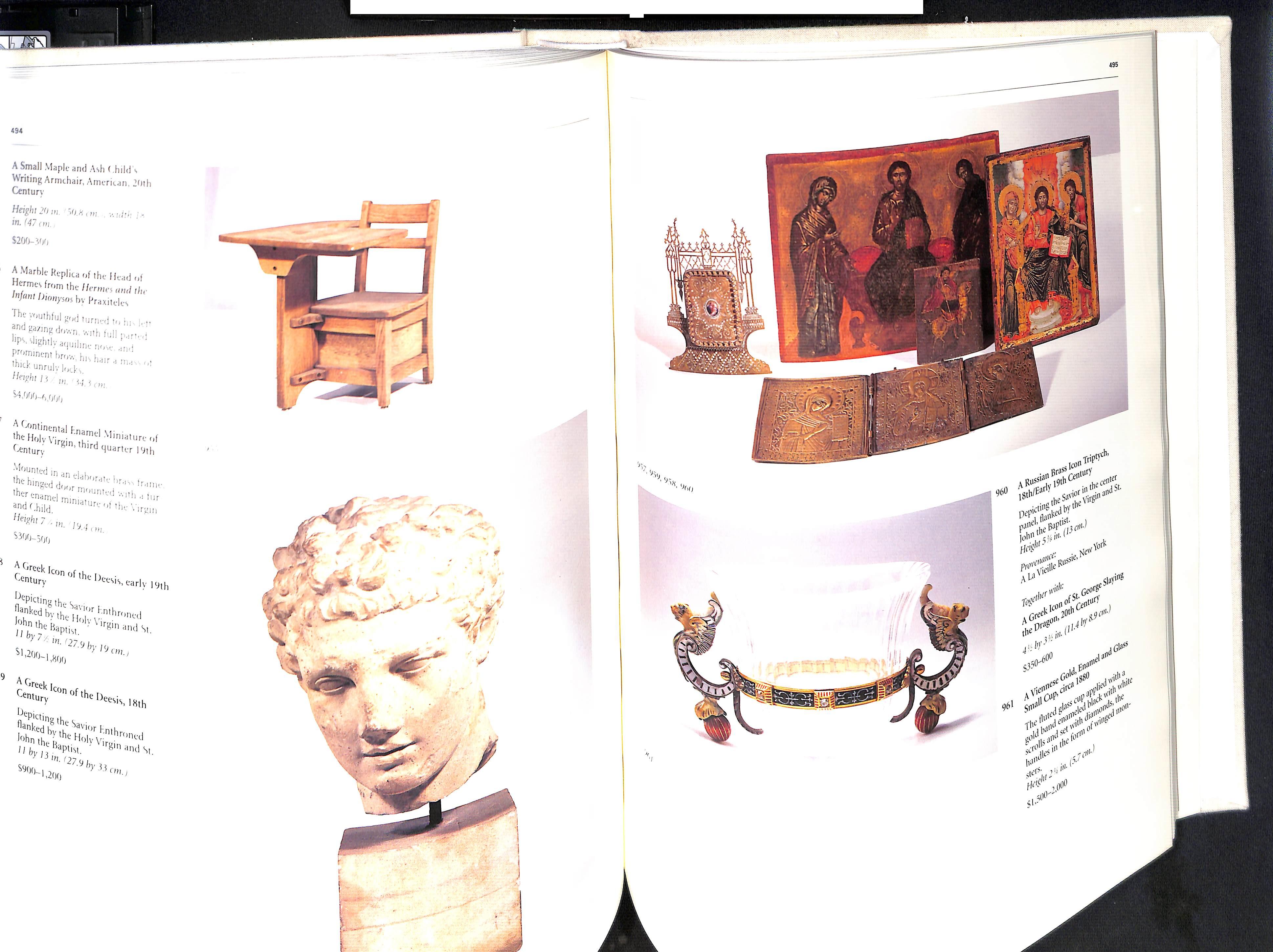 The Estate of Jacqueline Kennedy Onassis April 23-26 1996 Sothebys Hardback pages 584 - Image 3 of 10