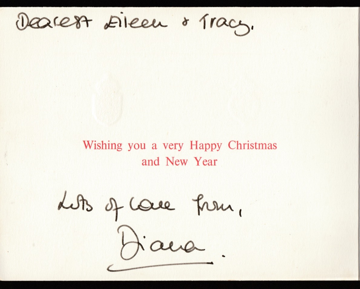 Royalty Signed Christmas Card Princess Diana with Prince Charles, William and Harry - Image 2 of 2