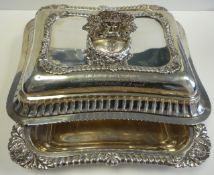King George IV Presentation Silver Entree Dishes St Christopher Colonial 1821 Governor Royal Navy