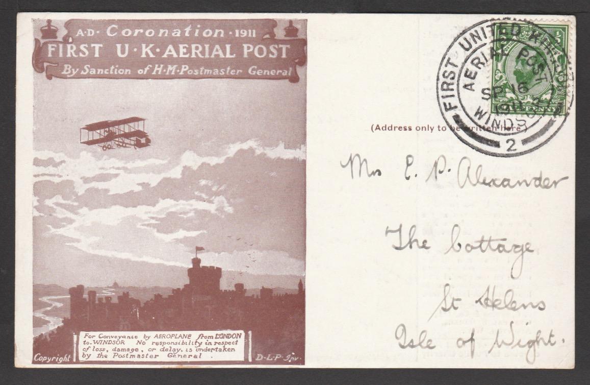 G.b. - Air Mails - London / Windsor Flights 1911 (Sep. 16)