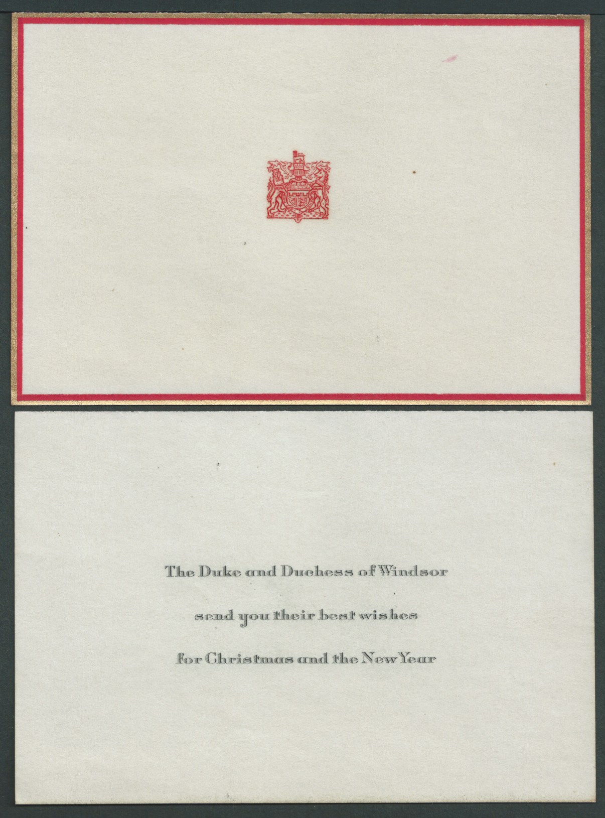 Royalty Duke And Duchess Of Windsor Christmas Card Cartier 1946 - Image 3 of 3