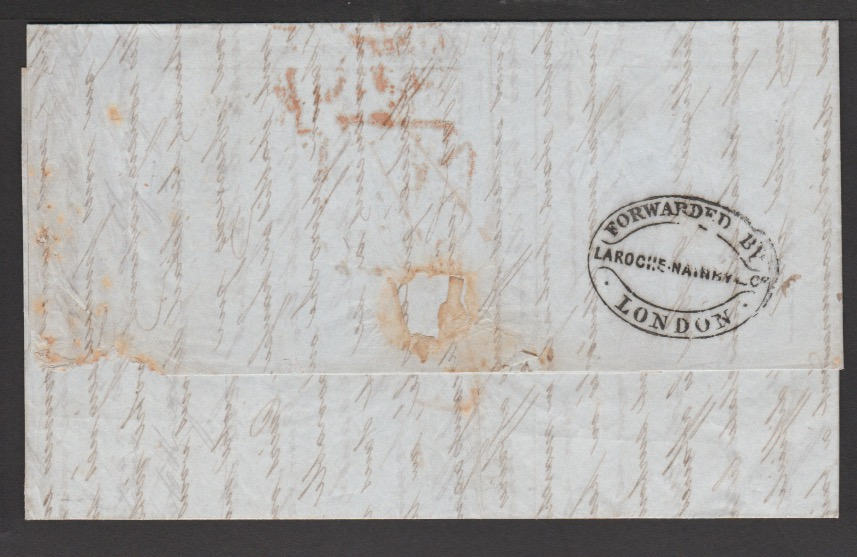 G.B. - London / Forwarding Agents 1854