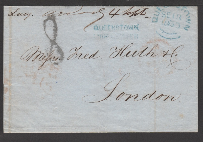 G.B. - Ireland - Ship Letters - Queenstown 1850