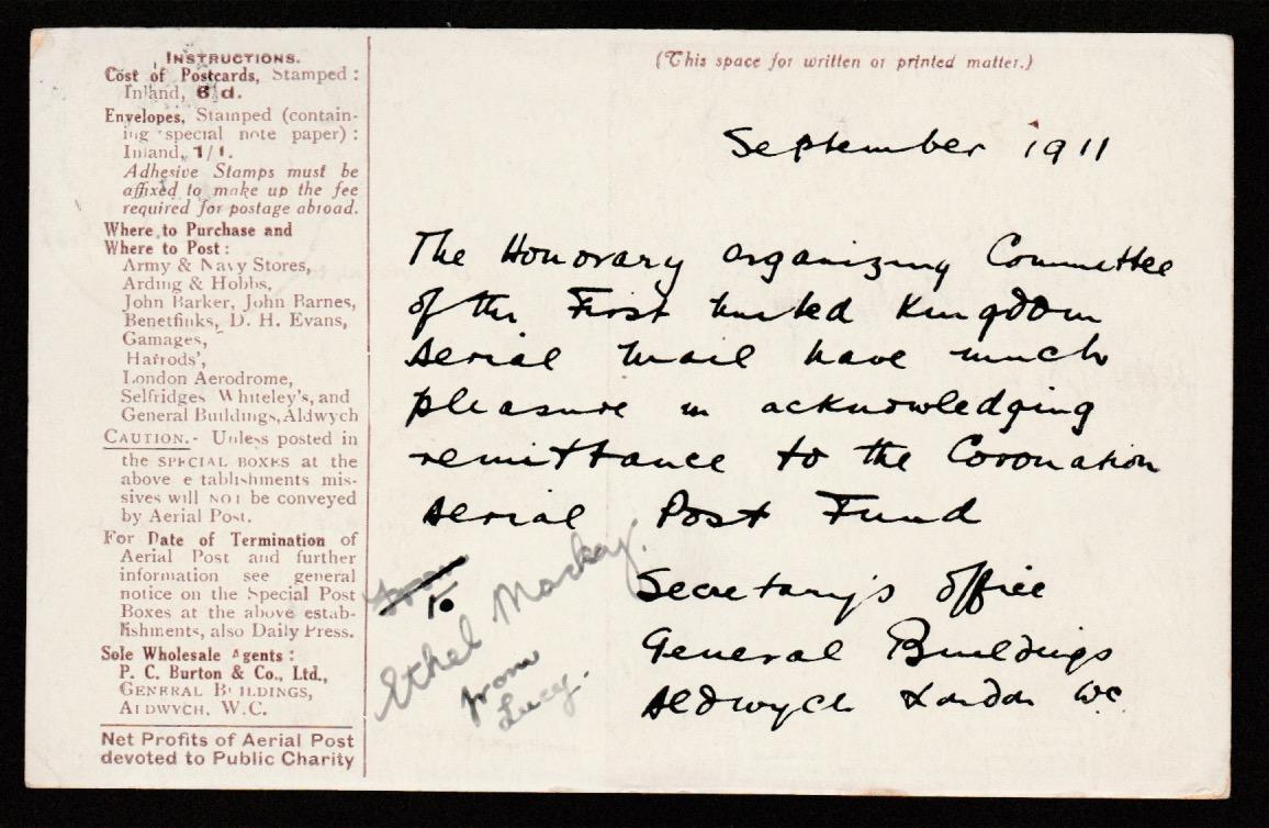 G.b. - Air Mails - London / Windsor Flights 1911 (Sep. 16) - Image 2 of 2