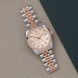 Rolex Datejust 31 178241 Ladies Rose Gold & Stainless Steel Jubilee Diamond Dial Watch