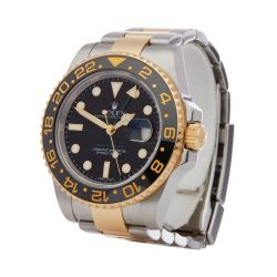 Rolex GMT-Master II 116713LN Men Yellow Gold & Stainless Steel Watch