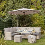 (R10F) Garden Furniture 1 X Hartington Florence Collection Corner Sofa Set. New (No Table) RRP £1200
