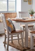 (R10C) Household. 2 X Henlow Solid Wood Dining Chair. RRP £100