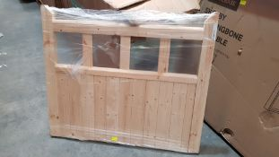 (R10B) Garden. 1 X IPD Doors Softwood Gate GTE (H36Ó X W 42Ó) Thickness 42mm. Appears New