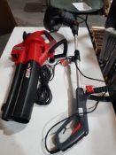 (R9E) 2 Items. 1x Ozito Wired Hedge Trimmer & 1x Ozito 18V Blower Vac