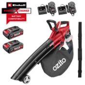 (R9C) 1 X Ozito Power Xchange Brushless Blower Vac 18V PXCBLVS-018U (No Battery) Ex Display. Appear