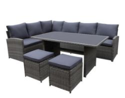 (R1) 1 X Matara Corner Sofa Dining Set (Opened Ð Appears Unused) RRP £700 ***no table included***