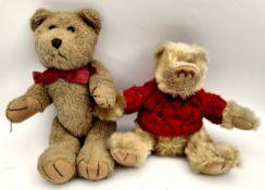 2 Vintage Teddy Bears