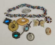 Costume Jewellery Vintage Parcel of Brooches etc Includes Butterfly & Kilt Pin