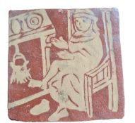 Medieval Style Terracotta Tile by Cheshire Medieval Ceramics