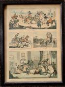 Antiques Framed Print Depicting Georgian Coaching Themes