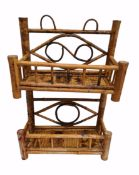 Vintage Bamboo Plant Stand or Spice Rack