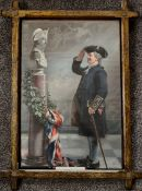 Antique Framed Pears Print Saluting The Admiral c1905