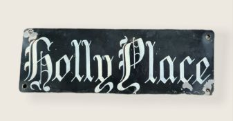 Vintage Tin Name Sign Holly Place