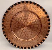 Vintage Fantasy Hand Wrought Copper Tray