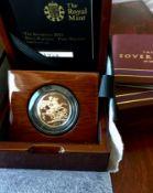 2015 UK Elizabeth II Gold Proof Sovereign Fifth Portrait COA Original Packaging