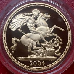 2004 UK 22k Gold Proof Two Pounds in RM Box George Slaying the Dragon (No COA)