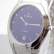 Edox / Date - Date World's Slimmest Calendar Movement - Unisex Steel Wrist Watch