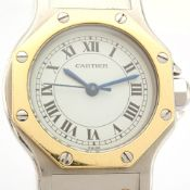 Cartier / Santos Octagon - Automatic - Lady's Gold/Steel Wrist Watch
