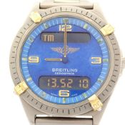 Breitling / Aerospace - Gentlemen's Titanium Wrist Watch