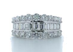 18ct White Gold Channel Set Semi Eternity Diamond Ring 2.54 Carats