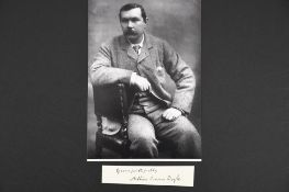 Arthur Conan Doyle (1859 - 1930) Original Signature.