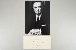 J.Edgar Hoover (1895 - 1972) Original Signature.