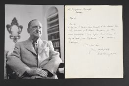 William Somerset Maugham (1874 - 1965) Original Handwritten, Signed letter.