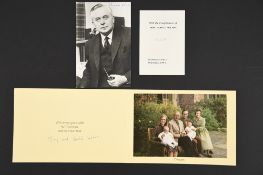 Harold Wilson (1916 - 1995) A hand signed photograph.