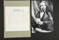 Charles Dickens (1812 - 1870) A handwritten note dated 1856.