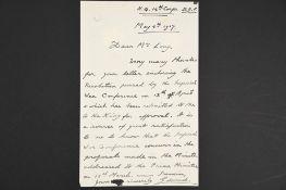 Edward VIII (1894 - 1972) A handwritten & signed letter.