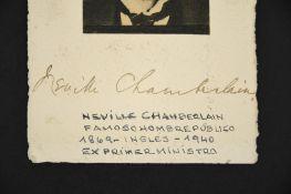 Neville Chamberlain (1869 - 1940) Original Signed postcard.