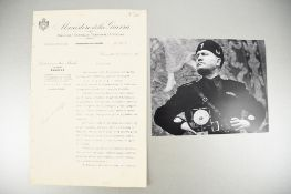 Benito Mussolini (1883 - 1945) Rare Document with Original Signature dated 1926.