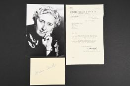 Agatha Christie (1890 - 1976) Original Signature on card.