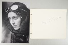Amy Johnston (1903 - 1941) Original Signature dated 1937