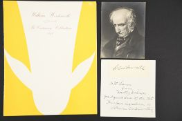 William Wordsworth (1770 - 1850) Original Signature.