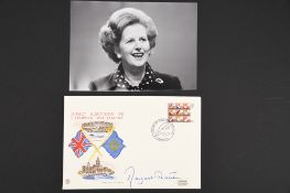 Margaret Thatcher (1925 - 2013) Original Signature on first day cover.