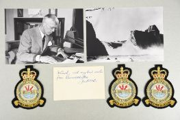 Barnes Wallis (1887 - 1979) Original Signature on card.