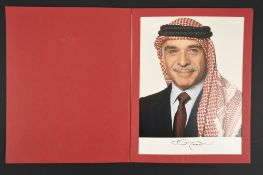 Hussein of Jordan (1935 - 1999) Original signature on photograph.