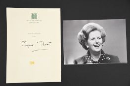 Margaret Thatcher (1925 - 2013) Original Signature on headed paper.