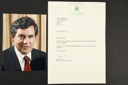 Gordon Brown (1951 - ) Original Signature on Photograph.