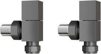 15 mm Standard Connection Square Angled Anthracite Radiator Valves. Ra03A. Complies With BS27.....