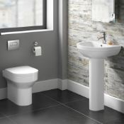 New & Boxed Cesar Back To Wall Toilet Inc Soft Close Seat. 621Bwp Made From White Vitreous C...